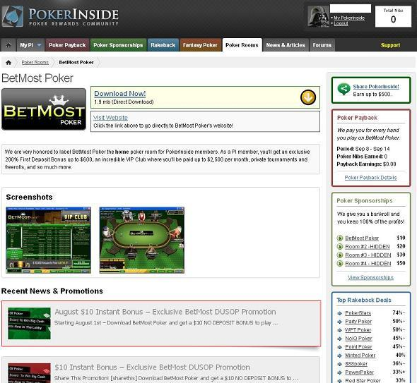 Sitio de poker instant bonus de registro